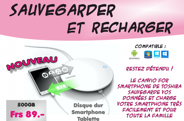 Recharger et sauvegarder votre smartphone ou votre tablette androïd